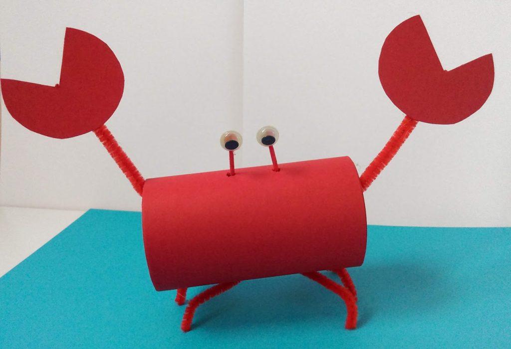 Χειροτεχνία για παιδιά: Φτιάχνουμε καβουράκια από ρολό