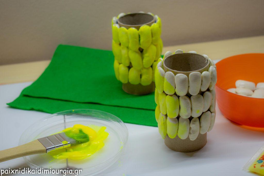 Φθινοπωρινή Κατασκευή: καλαμπόκια με φασόλια και ρολό