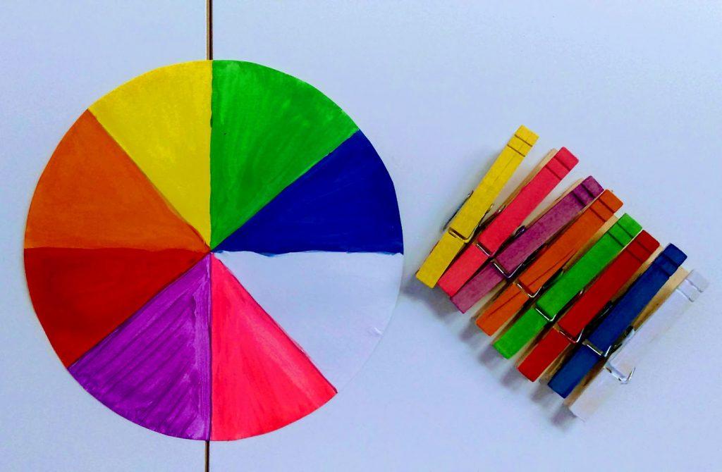 Χρωματιστός τροχός: DIY παιχνίδι για παιδιά από 18+ μηνών