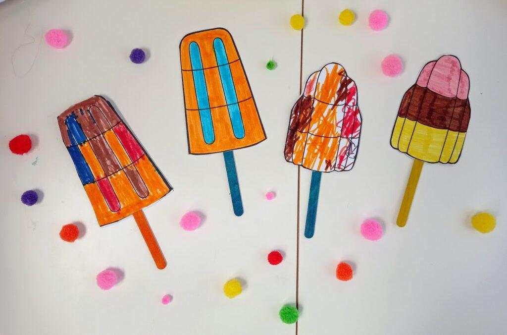 """Χειροτεχνία για παιδιά: """"Φτιάχνω παγωτό"""""""