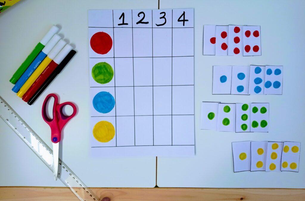 DIY: εύκολο και απλό παιχνίδι χρωμάτων και αριθμών.
